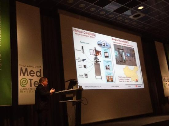 Telemedicine cabins to connect with isolated communities - presented at MedeTel
