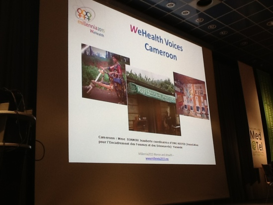 Veronique Thouvenot presents WeHealth Voices Cameroon at MedeTel