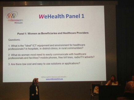 WeHealth Presentation: Women as beneficiaries and healthcare providers