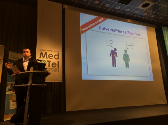 Dr. Jordi Serrano Pons presenting UniversalNurses Project